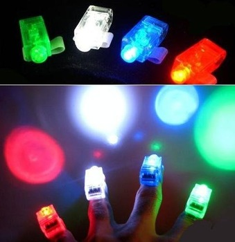 Free Shipping/Finger flashlights/LED Laser Finger/light Beams Ring Torch for Party/Fashion Style/cute Gift/Wholesale