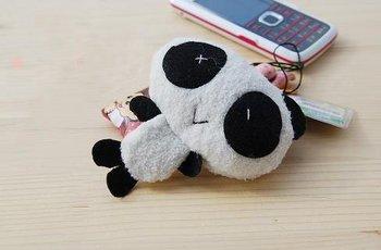 Free Shipping/ Fashion new/lovely Plush Panda Mobile/MP3/MP4 Straps/Holder& Handbag Pendant /Korean Style / Wholesale