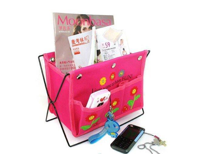 BAG ORGANIZER INSERT MP3 phone storage Multi desk table holder folding cute flower design CN post(China (Mainland))