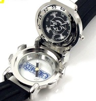 one piece skull watch leather band compass NIB free shipping wholesale