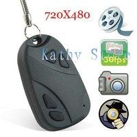 Free shipping 1PCS/Lots Car Key Chain Cam Key FOB Camera Camcorder DV DVR Recorder