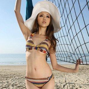 2011 new south Korean superheroes stripe sexy swimsuit bikini11013 /3pcs per ...
