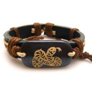zodiac vogue beef bone bracelet genuine leather nation ornament Hot!! free shipping(China (Mainland))