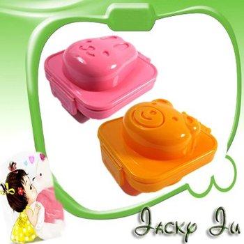 5pcs/Lot Free Shipping New Korea Hot Kids Baby Eating Set Bowl Bear Rabbit Rice Egg Mould Mold