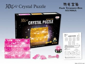 10 pcs/lot free shipping Crystal Treasure-box 3D jigsaw puzzle,Treasure-box jigsaw,do-it-yourselfery