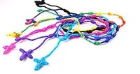 wholesales 24pcs Mix color Hand Made Knotted Rosary Bracelets - Pulseras Decenarios