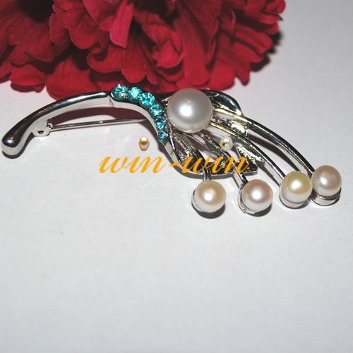 FREE SHIPPING Fashion Freshwater Pearl Brooch Jewelry Jewellery Unique/Nice/Charmful/Costume Brooch Pins(China (Mainland))