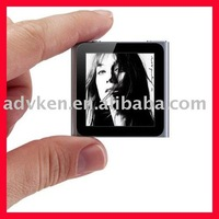 "Free shipping MP4 MP3 Player 1.5"" LCD 8G Player 6th stlye ID3 Lyrics display E-book NEW and GIFT"