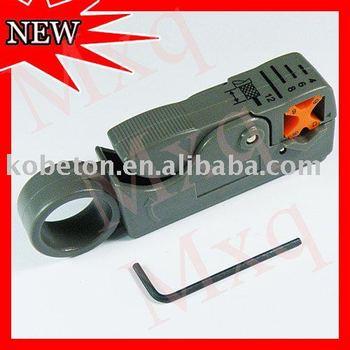 10pcs Mini Rotary Coax Coaxial Cable Cutter Tool RG58 RG6 Stripper for RG-58/59/62/6/6QS/3C/4C/5C Network RF BNC Tool