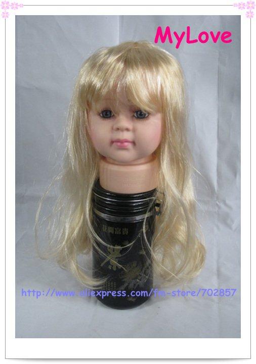 Long Hair Manikin With Long Straight Hair