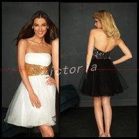 Wholesale cheaper price Elegant EV1058 sleeveless short Tulle Party Dresses