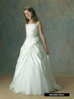 New Arrival Sweetheart Girl Shiny Crystal Beaded Organza Ball Gown Pageant Flower Girl Dresses  FL-1520