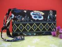 Wholesale Vb style  Wristlet  purse bags 14 Colours 100%Cotton According to your request - blue