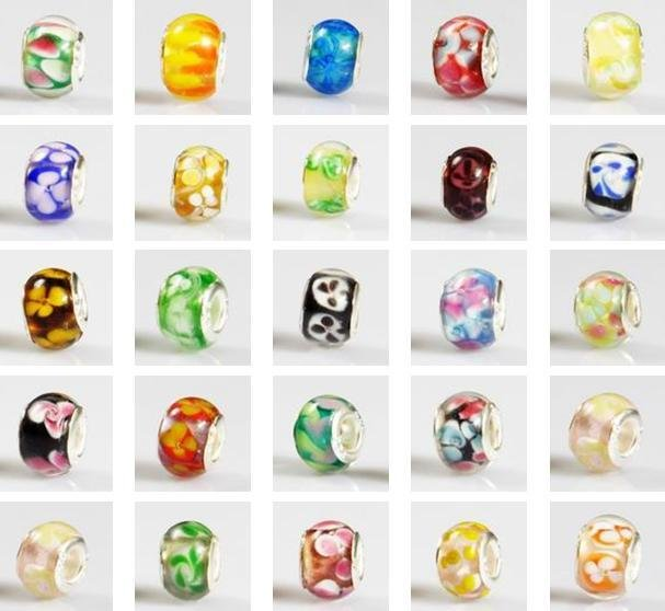wholesale Murano Lampwork Glass European Beads Fit Bracelet(China (Mainland))