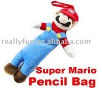 Super Mario Soft Plush Doll Pencil Case Bag Full Body