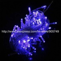 free shipping 32ft 100 lamp blue light led christmas lights festival holiday led string light wedding decoration