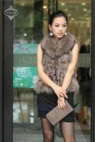 Ladies' Fox  Fur Vest-Fox Waistcoat 008