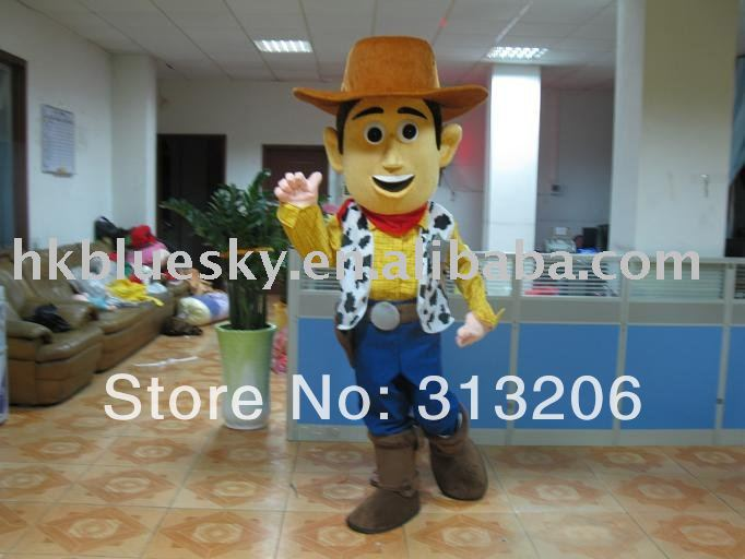 Toy Story (woody)cartoon costume with high quality,best price(China (Mainland))