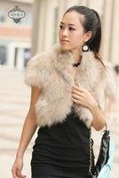 Ladies' Fox  Fur Vest-Fox Waistcoat 003