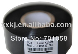 Black color 30mm*100M Date code labels is print Expiry-date on Food or Medical Plastic packaging bag(China (Mainland))