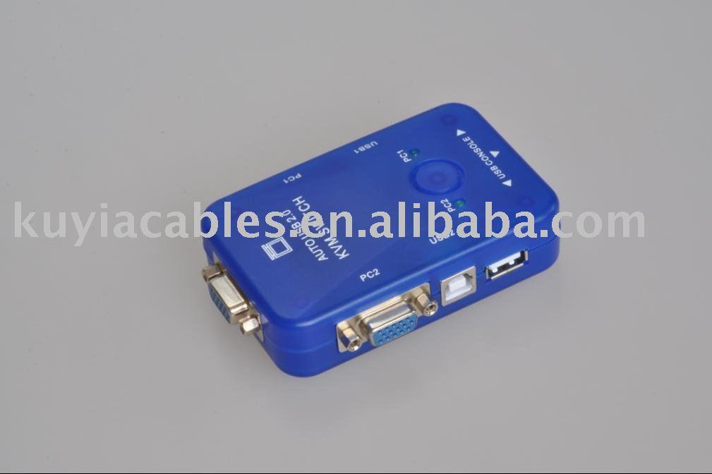 5pcs/lot!! Free Shipping+Tracking number! New AUTO USB 2.0 KVM SWITCH BOX MONITOR VGA 2 PORT(China (Mainland))