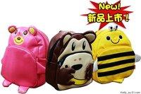 EMS Free shipping hot selling 15pcs/lot Wholesale Linda kids animal cute backpack children school backpacks shoulder bag