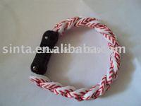 free shipping wholesales discount titanium Baseball Stitch bracelets