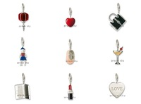Wholesale Jewelry Beads Silver Plated Bead Alloy metal Charms Pendants MIX order