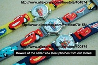 Good quality 50pcs/lot Car kids 3D watch watch children Watches wrist watch 3D wristwatch toy can mix order