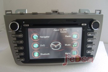 Car DVD GPS for Mazda 6 +iPod+Radio+Bluetooth+free shipping