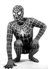 white spiderman promotion