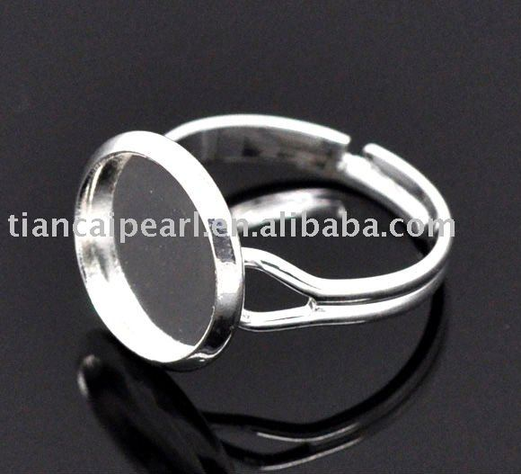 DIYJewelry Large Adjustable Ring Base Blank Glue-on17.5x12mm(China (Mainland))