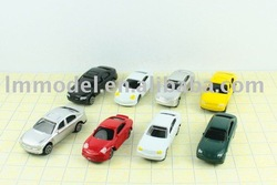 100pcs Free shipping for scale model train layout 1/100 model car (CB100-3)(China (Mainland))