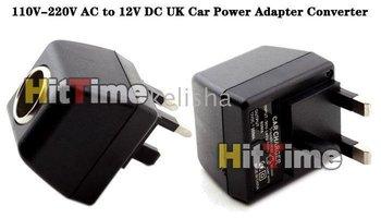 50pcs 110V-220V AC to 12V DC UK Car Power Adapter Converter Free Shipping