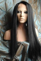 "2011 New Gorgeous 20"" Hi Temp Lace Front #1B Silky Straight Hair Wigs"