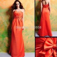 Free Shipping Fashion 100% Guaranteed 7319 Floor-length Organza Satin Bridesmaid Dress/Party Dress