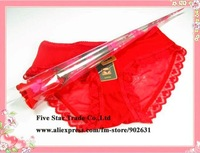 2011 New Arrival~Free Shipping/Accept Credit Card Wholesale 30pcs Red/Black Colors Amazing Women Rose sexy panties
