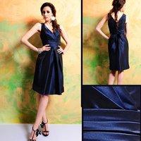 Gorgeous wholesale 7322 Knee-length Dark Navy Taffeta Bridesmaid Dress/Party Dress