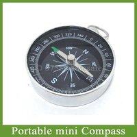 Free Shipping by DHL 100pcs/lot Mini 44mm Aluminum Pocket Portable Travel Compass