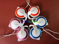 Freeshipping personality headset,Hang ear in-ear headphones,fashion earphone,game earphone,microphone,sport earphone