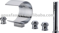 5 pieces brass waterfall bathtub faucet A-16517