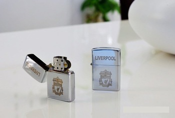 Fans lighter ,Football Club Lighter,Kerosene lighter ,Metal lighters 10pcs/lot