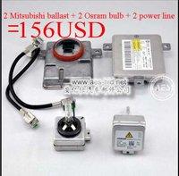 high cost performance! HID xenon conversion kit: 2 original Mitsubishi D3S Ballast+2 OSRAM D3S bulbs +2 power line=156USD