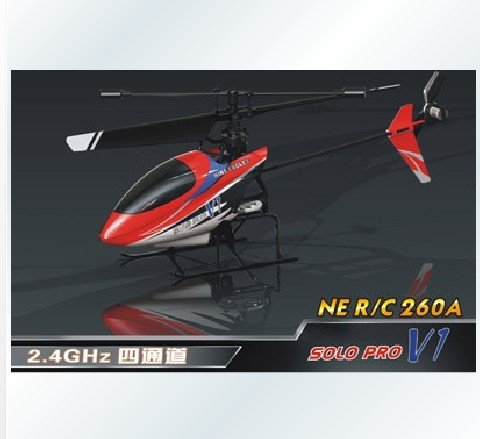 Wholesale!1 pcs Nine Eagles SOLO PRO 2.4G 4CH Mini RC Heli / Gyro free shipping(China (Mainland))