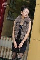 Ladies' Fox  Fur Vest-Fox Waistcoat  016