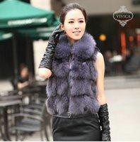 Ladies' Fox  Fur Vest-Fox Waistcoat 015