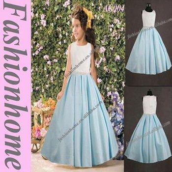 Refinement flower dress, girl's party dress AC004