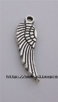 Free shipping 100pcs/lots tibet silver wing charms pendants/jewerly accessories
