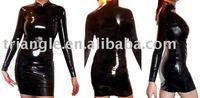 100% handmade latex small black  dress