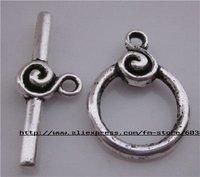 free shipping 10sets/lots tibetan silver toggle clasps/ot toggle clasps